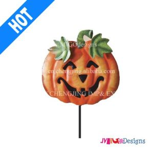 Halloween New Saled Pumpkin Metal Garden Stake pictures & photos
