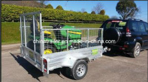 Hot Dipped Galvanised Box Trailer with Ramp pictures & photos