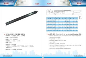 42mm Full Extension Ball Bearing Drawer Slide pictures & photos