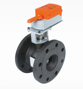 Dn65 1.1/2′′ Flange Motorised Modulating Control Proportional Ball Valve pictures & photos