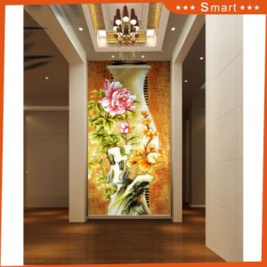 Custom Design Home Deco Full Printed Painting Cheap Canvas Art Flower Series Model No: Hx-4-056 pictures & photos