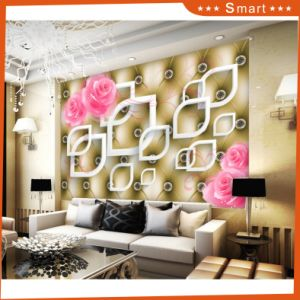 3D Pink Rose and White Lip Shape Oil Painting for Home Decoration pictures & photos