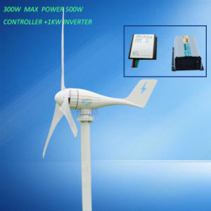 Horizontal Wind Generator 300W 12V 24V with Charge Controller and 1000W Inverter pictures & photos