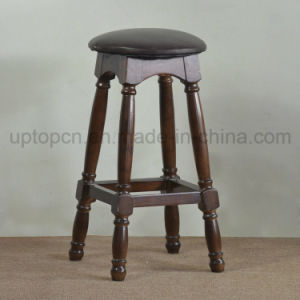 Solid Wooden Round High Bar Chair for Bistro (SP-HBC253) pictures & photos