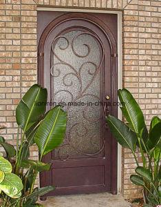 Good Price Iron Custom Single Entry Door for Garden pictures & photos