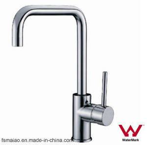 Watermark and Wels Approved Water Saving Brass Sanitary Ware Single Lever Kitchen Faucet (HD4233) pictures & photos