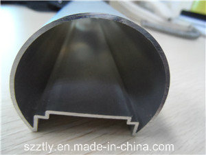 6063 Sand Blasted Anodised Natural Aluminium Extruded Tube for LEDs pictures & photos