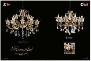 Coffee Golden European Crystal Chandelier Light pictures & photos