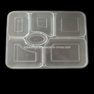 Rectangle 6-Compartment Meal Prep Disposable Plastic Food Tray pictures & photos