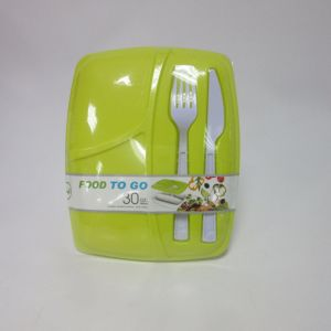 30 Oz Square Lunch Box Food to Go pictures & photos