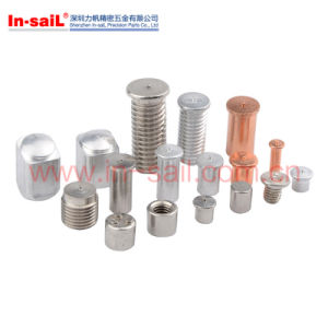 Copper Plated Steel Spot Weldingstud Screw pictures & photos