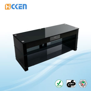 Hot Sell Cheap Glass and Wood Furniture Corner LED LCD Modern TV Stand pictures & photos