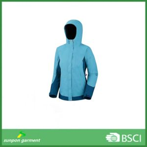 100% Ployester Men Waterproof Softshell Jacket pictures & photos