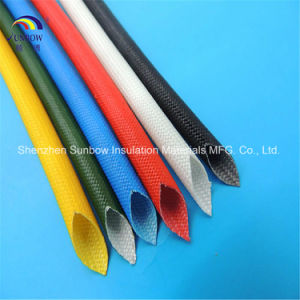 Heat Treated Saturated Fiberglass Sleeving Coated Silicone Resin pictures & photos