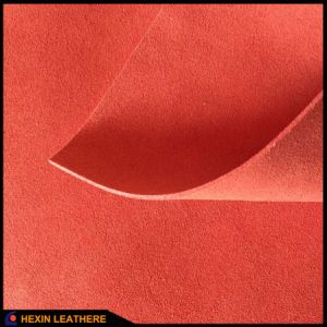 Suede Microfiber Leather for Shoes Lining Hx-Ms1701 pictures & photos