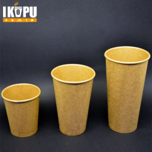 Disposable Kraft Coffee Cup with Lid pictures & photos