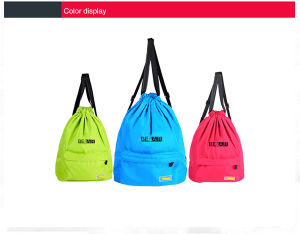 Nylon Drawstring Gym Backpack Bags for Men and Girls (44) pictures & photos