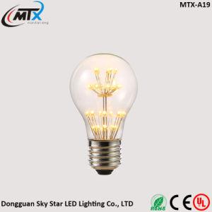 A19 Pear Shape Warm White Decoration 2W LED Bean Light Bulb pictures & photos