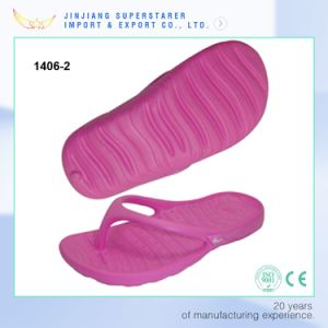 EVA Injection Pink Flip Flops for Women Size pictures & photos