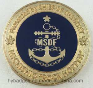 Stamping Gold-Plated Coin with Double-Side Logos (GZHY-Coin-007) pictures & photos
