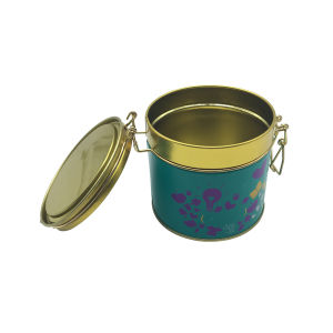 Metal Lock Round Shape Tea Tin Can Wholesale Factory Directly pictures & photos