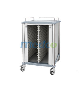 Stainless Steel Hospital Patient Record Trolley pictures & photos