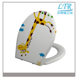 Western Animal Round Print Beach Wc Toilet Seat Cover with Soft Close Damper Hinge pictures & photos
