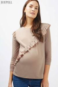 Maternity Ruffle Long Sleeve Top pictures & photos