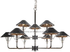Decoration Iron Chandelier Light with Leather Shade (SL2077-5) pictures & photos