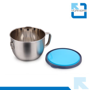 Multi-Functional Use 201 Stainless Steel Fast Food Bowl/Food Container with Silicone Lid pictures & photos