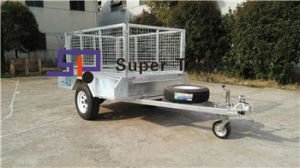 7X5 Galvanised Fully Welded Box Trailer with Removable Cage