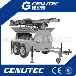 Heavy-Duty Trailer Mounted Light Tower with Double Axle (GLT9000-9H) pictures & photos
