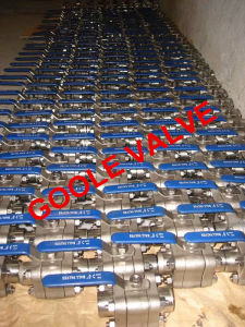 3PC Socket Welded / NPT Threaded Forged Steel Floating Ball Valve (GAQ61F/GAQ11F) pictures & photos