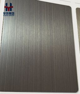 Copper Claded Stainless Steel Decorative Plate Bronze Hairline Vibration Finished pictures & photos