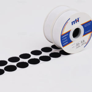 Self Adhesive Velcro Hook Loop Dots/Coins - Black pictures & photos