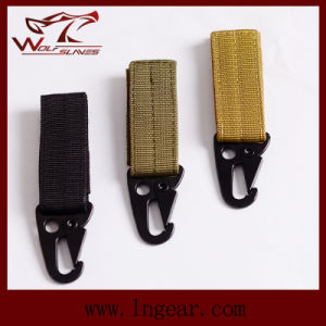 Outdoor Military Airsoft Tactical Molle Key Chain of Practical Key Buckle Nylon pictures & photos