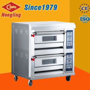 Ce Certification for Commercial Gas Oven with Double Deck/ Tray pictures & photos