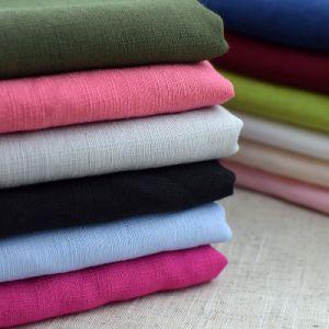 Woven Textile Polyester Cotton Linen Look Slub CVC Fabric