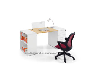Modern Wooden Cheap Staff Office Furniture Table Computer Desk (HF-GD0116) pictures & photos