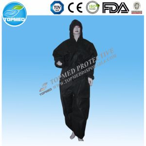Non-Woven One Time Use Coverall with Hood pictures & photos