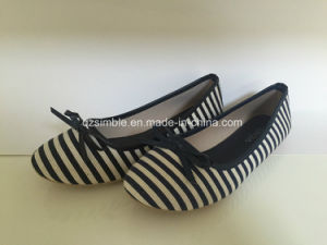 Stripe Canvas of Women Ballerinas Shoes pictures & photos