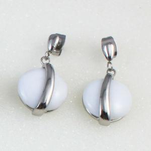 Fashion Jewelry Black Onyx Rose Quartz Teardrop Dangle Earrings pictures & photos