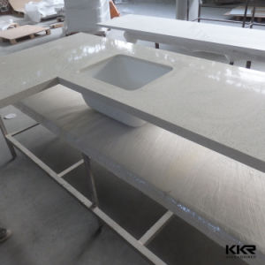 Kingkonree Solid Surface Resin Stone Kitchen Countertops pictures & photos