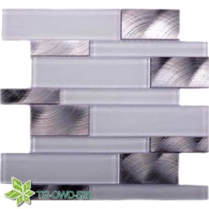 Super White Glass Mosaic Mixing Aluminium (TG-OWD-528) pictures & photos
