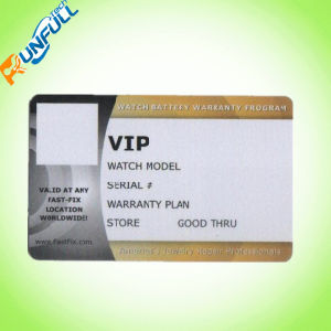 UV Spot Standard Cr80 Plastic Business Cards pictures & photos