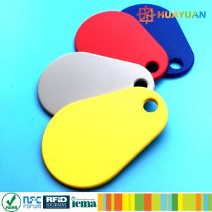 Laser logo colorful thin durablel MIFARE Classic 1K Nylon Overmolded RFID Keyfob Tag pictures & photos