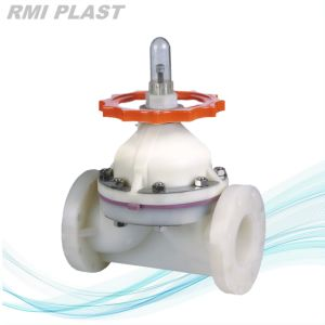 Flanged Pph Diaphragm Valve by Manual Operate pictures & photos