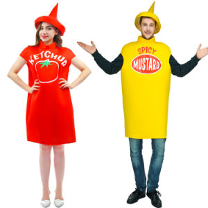 Promo Adult Ketchup & Mustard Classica Couples Costume (CPGC7004X) pictures & photos