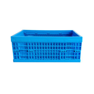 600 X 400mm Collapsible Fruits Storage Distribution Plastic Crates Recycled pictures & photos