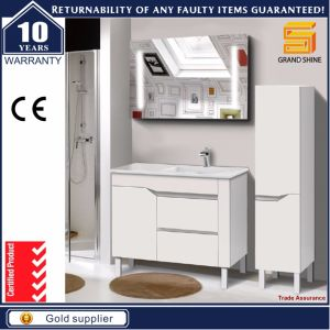 Hot Selling Floor Mounted White MDF Bathroom Furniture Cabinet pictures & photos